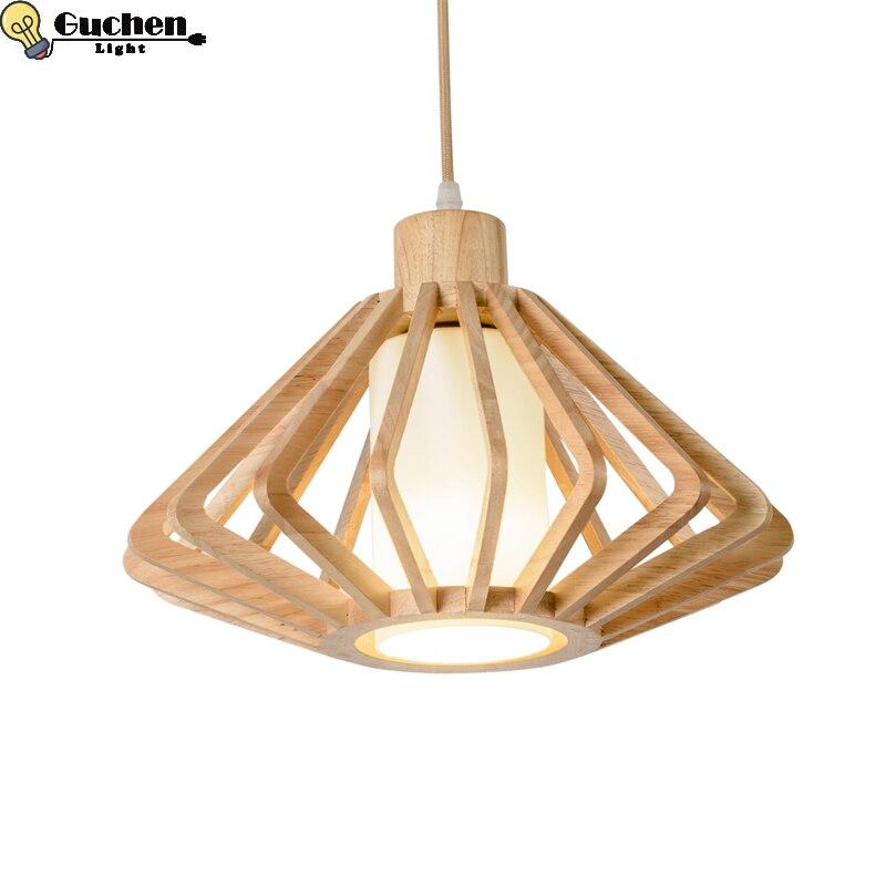 Современный деревянный японский подвесной светильник домашний Декор Гостиная Столовая Кухня кровать голова светодиодная кухня ателье маг