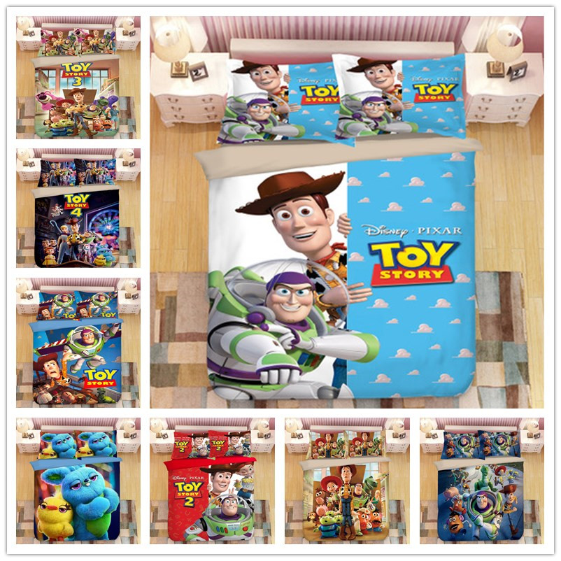 Disney Toy Story Bedding Set Double Size Duvet Cover Set Children Home Decor Twin Queen King Size Bed Covers Single Linens Gift