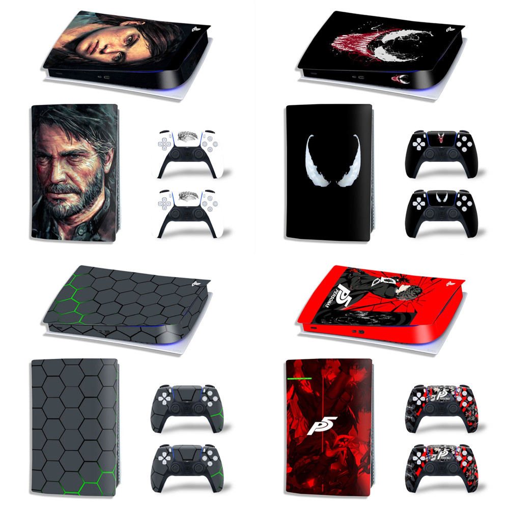 For PS5 Digital Skin Sticker For PlayStation 5 Digital Console and Controllers For PS5 Gamepad Controller Sticker Decal 1