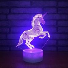 Creative USB Light LED Light Portable Mini Fantasy Ambient LED Light Unicorn Rainbow Night Light Home Decoration Creative Gift