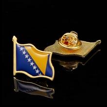 Brooch-Pin Bosnia Badge Flag-Pin Tie And Cloth Tack Herzegovina-Hat Zinc-Alloy