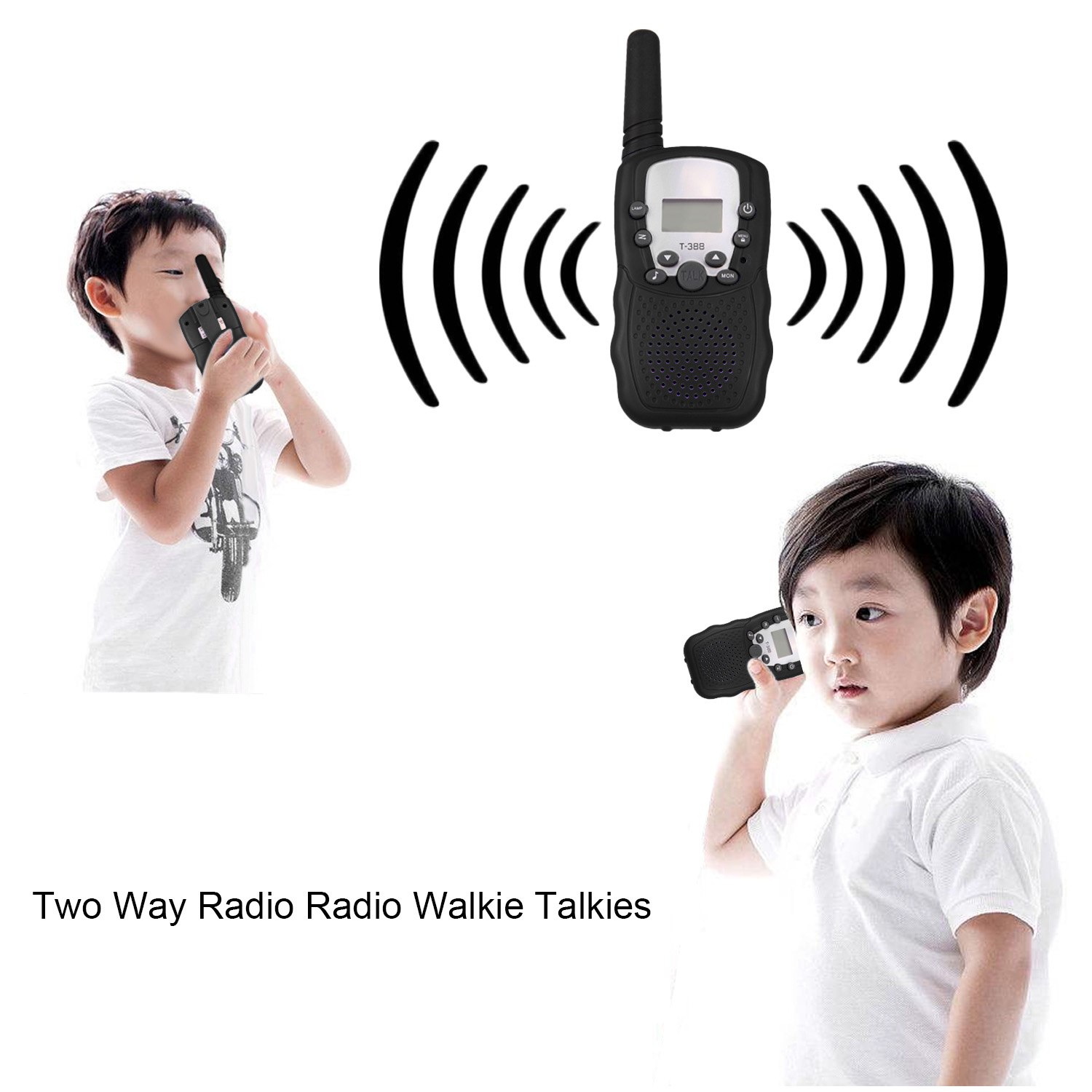 2pcs Kids Walkie Talkies 22 Channels 1km Mini Two Way Walkie Radio Interphone Toys For Child Toddlers New Year Birthday Gifts