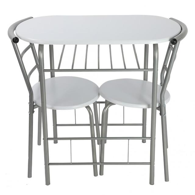 3Pcs Breakfast Table Chairs 3
