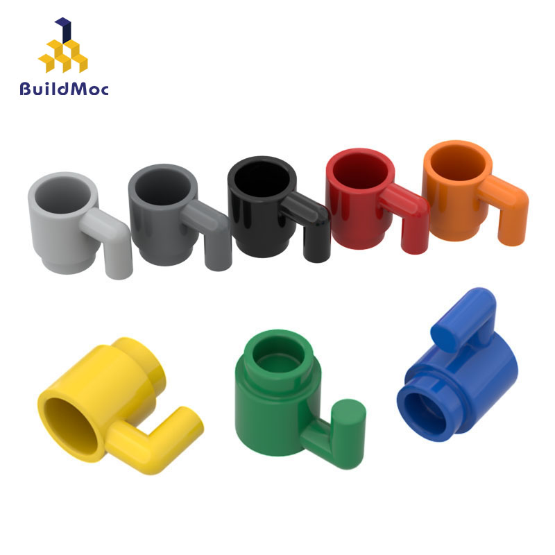 BuildMOC Compatible Assembles Particles 3899 Mug  Building Blocks Parts DIY LOGO Educational Creatives Gift Toys