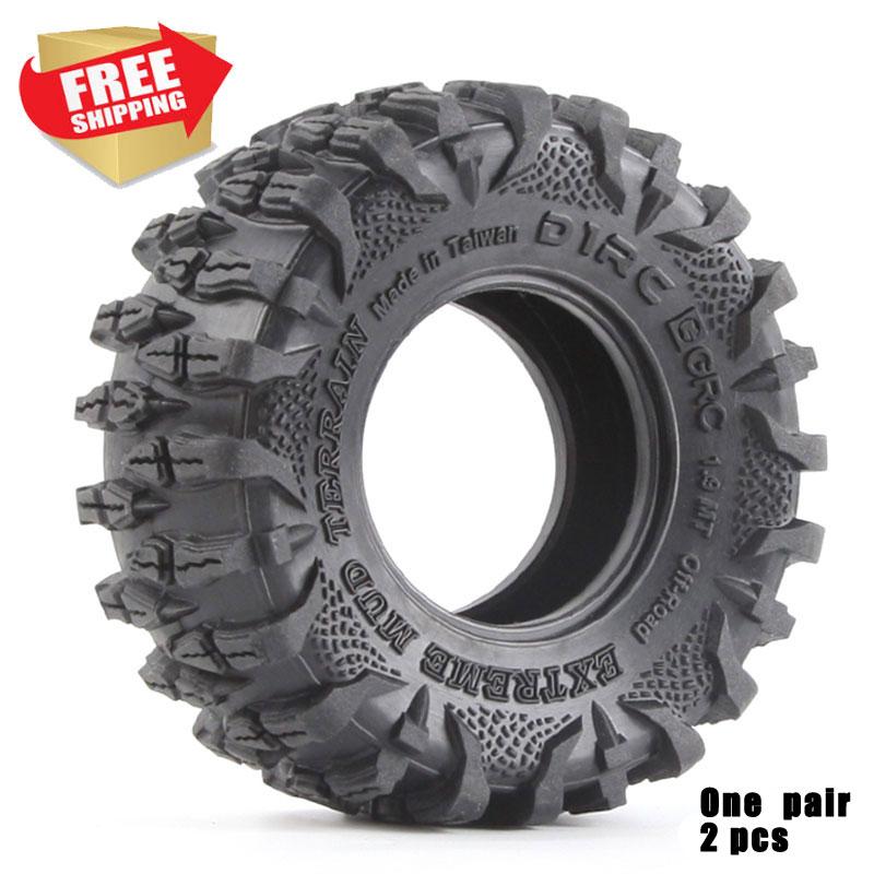 RC 2PCS D1RC Super Grip High Quality CRAWLER CAR 1.9 Inch RC Thick Wheel Tires AXIAL Scx10 TRX4 108mm