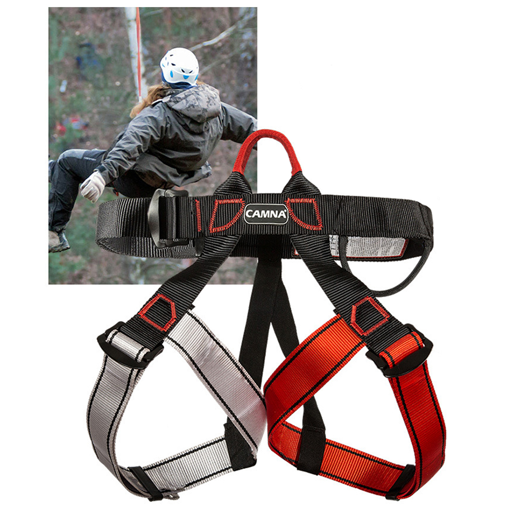 Professional Seated Downhill Seat Belt Climbing Harness Safety Belt Rock Mountaineering Safety Belt Survival Accessories