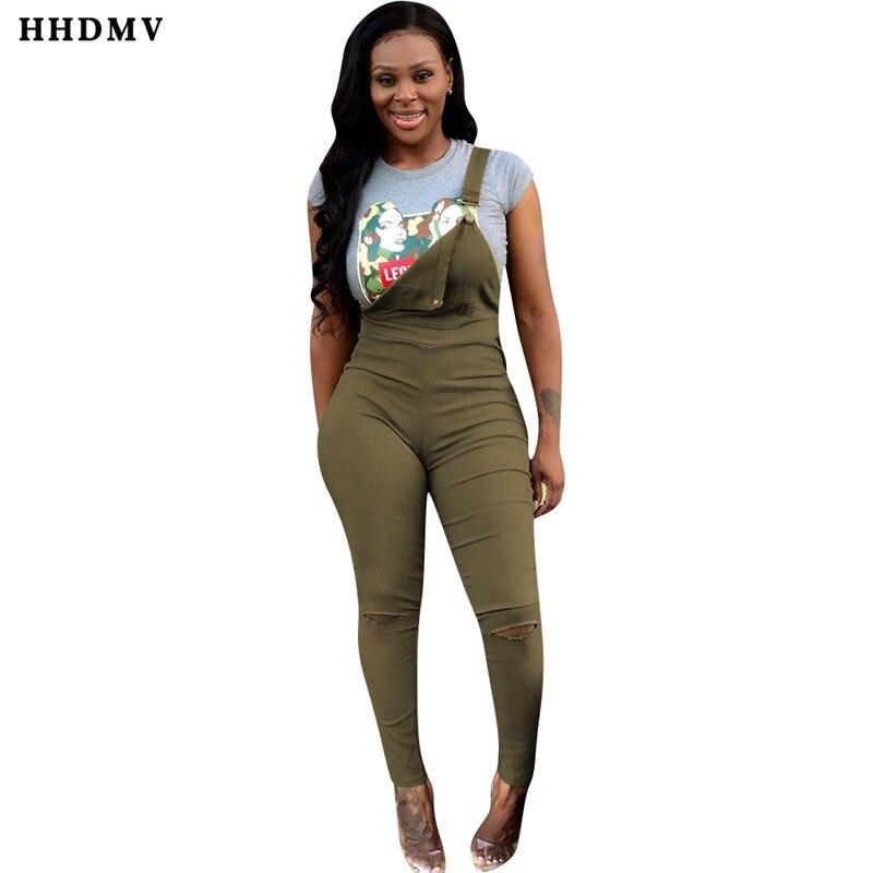 HHDMV YZ634 neutral minimalist wind jumpsuits sleeveless condole belt pockets broken hole pure color green jumpsuits long pants