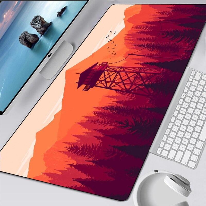 Deep forest firewatch Laptop Gamer Mousepad Gaming Mouse Pad Large Locking Edge Keyboard mouse pad office deak mat carpet gift