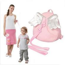 Рюкзак для малышей с защитой от потери; Детские слинги на лямках; цвет синий, розовый; дизайн ангела; Милые слинги; поводки на лямках