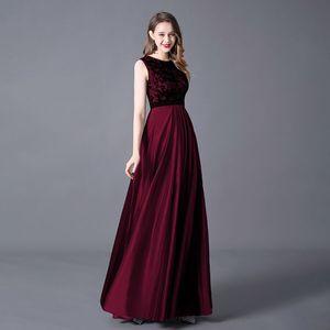 Image 2 - Evening Dress A line Floor Length Sleeveless Elegant Evening Party Gowns with Zipper Back Belt Wedding Guest 2020 Queen Abby