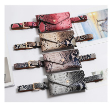 Women Fanny Pack Vintage Serpentine Waist High Quality PU Leather Phone Pouch Fashion Snake Skin Bag Messenger Bags