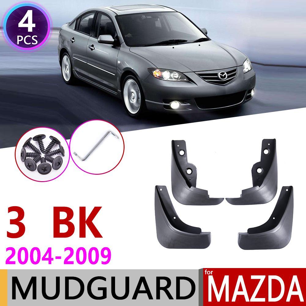 for Mazda 3 BK Sedan Saloon 2004 2005 2006 2007 2008 2009 Car Mudflaps Fender Mud Guard Flap Splash Flaps Mudguards Accessories-in Car Stickers from Automobiles & Motorcycles