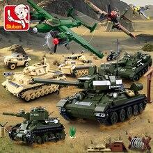 Militaire Tank Auto Vrachtwagen Vliegtuig Ruimteschip Ww 2 Army Cijfers Series Set Soldier Wapen Bouwstenen Bricks Model Speelgoed Jongen geschenken