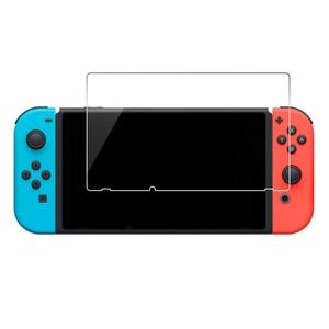 Image 2 - Protector de pantalla de vidrio templado Premium para Nintendo Switch, película protectora endurecida, 100 Uds., 2.5D, 0,26mm, 9H