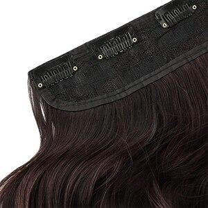 MERISI волосы 5 клипсов синтетические волосы длинные прямые волосы на заколках накладные волосы черные волосы для женщин