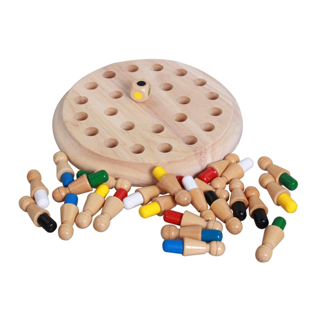 Kids Party Game Wooden Memory Match Stick Chess Game Fun Block Board Game Educational Color Cognitive Ability Toys image