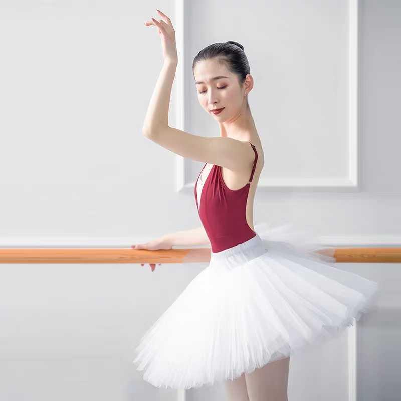 Chuyên Nghiệp Múa Ba Lê Hồ Thiên Nga Tutu Trắng Lưng Thun Đen Người Lớn Ballerina 5 Lớp Lưới Cứng Voan Váy Tutus Với Quần Đùi