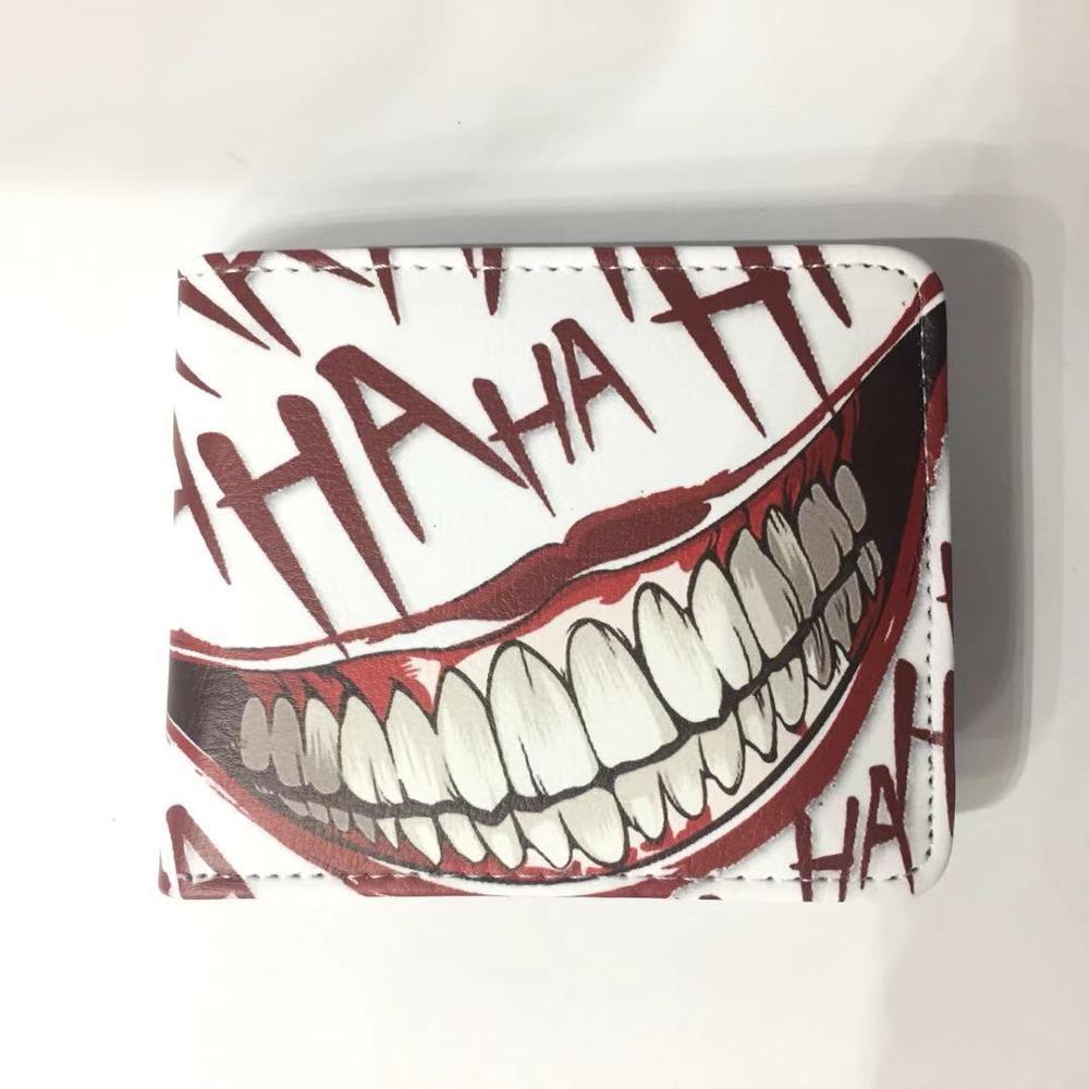 Joker Wallet Synthetic Leather Purse Harlequin Joker Film Cosplay Money Card ID Holders Coin Pocket Anime Cartoon Comic Wallets