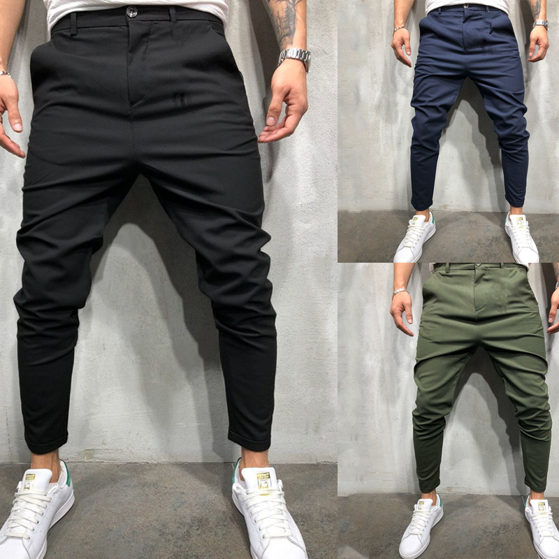 MEN'S Tatting Casual Trousers Suit Pants