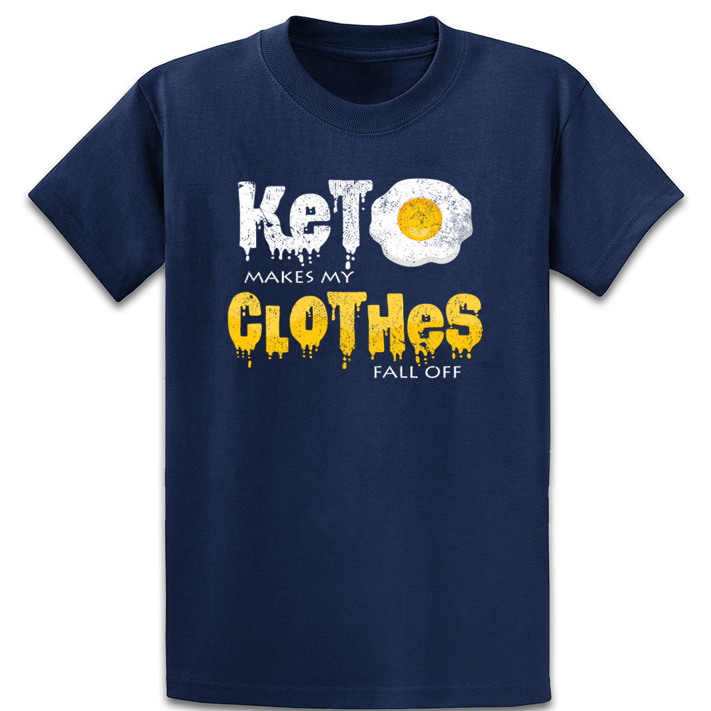 Keto Makes My Clothes Fall Off Ketogen Present T Shirt Cute Basic Cotton Natural Pictures Knitted Euro Size S-5xl Shirt