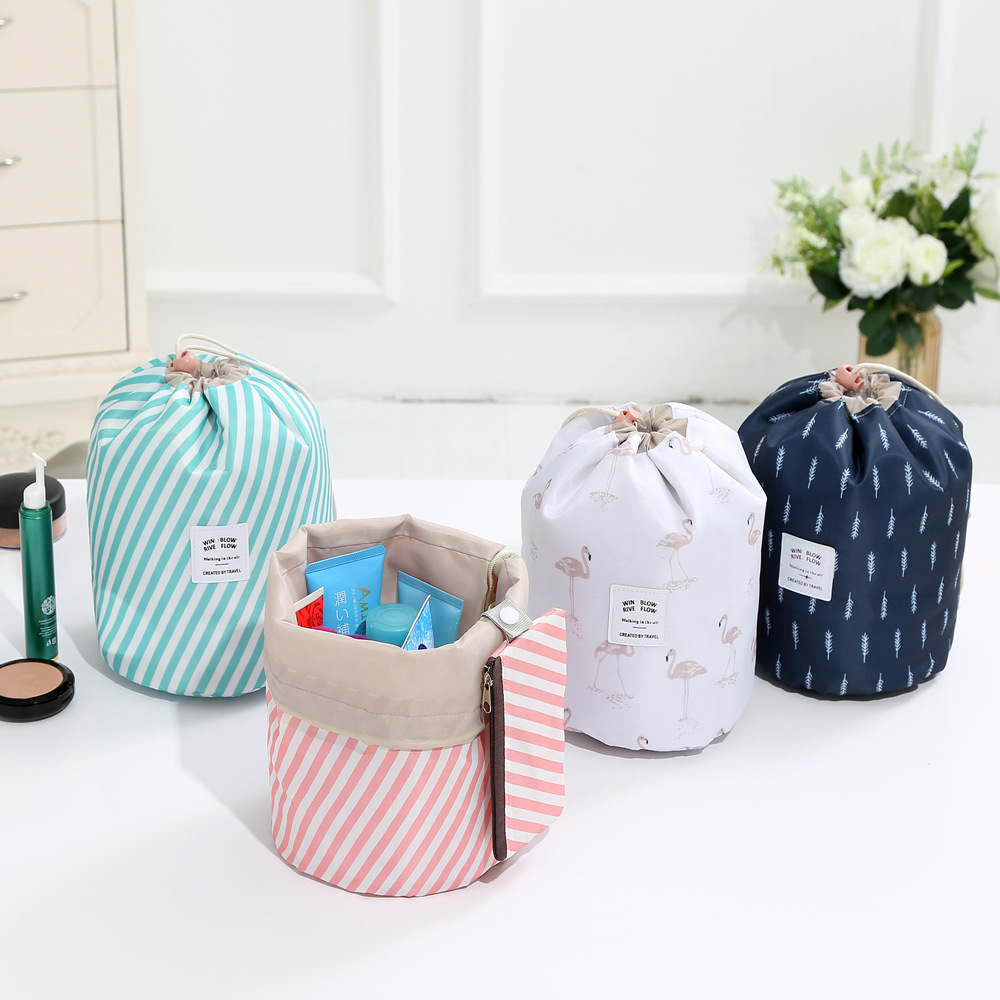 New Oxford Cloth Women Travel Cosmetic Bag Flower Female Drawstring Portable Home Storage Organizer Makeup Bag Beautician Pouch