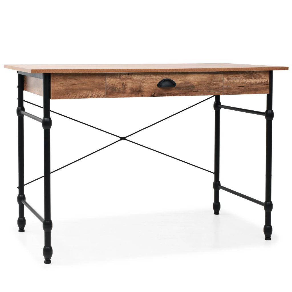 VidaXL Writing Desk With Drawer 110x55x75 Cm Oak Colour