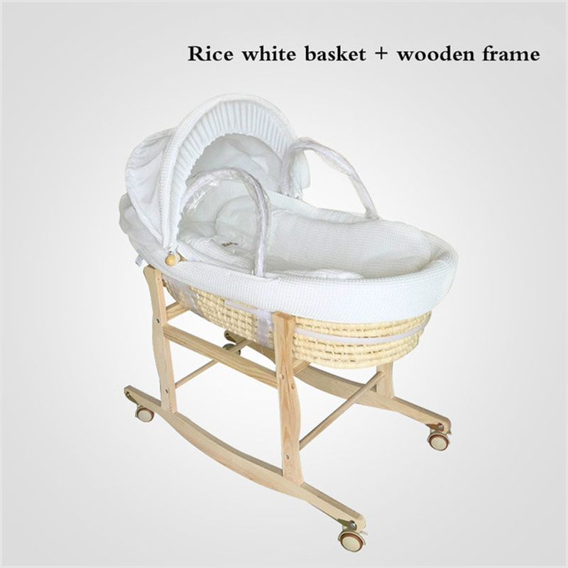 New Free Shipping 2in 1 Newborn Portable Baby Basket Infant Crib Car Sleeping Basket Baby Bed 0-12month