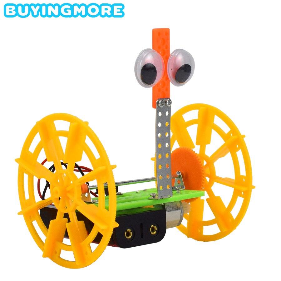 Two-wheeled Balance Car Model Kits DIY Electric Robotics Educational Kits Science Toys For Children Assembling Plastic Model Toy