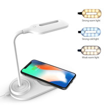 Quick Wireless Charging LED Table Desk Lamp Portable Eye Protect 360 Degree Flexible Touch Control Night Light(China)