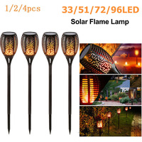 33LED 防水ちらつき炎ソーラートーチ屋外景観装飾芝生ライト led 太陽の炎ランプ