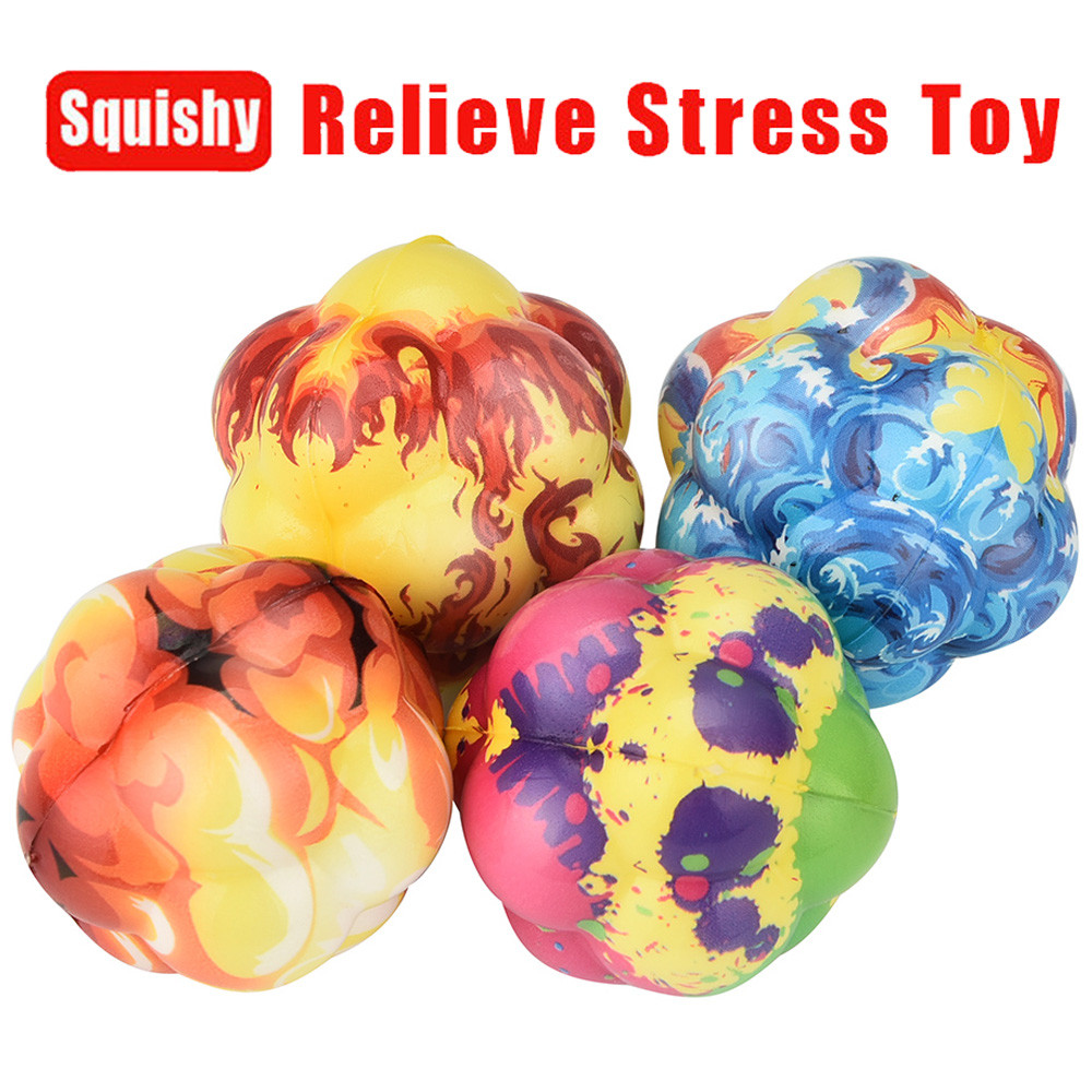 Simulation Atomic Bomb Irregular Sphere Scented Slow Rising Squeeze Stress Reliever Toy Children's Toys Developing Gift  L107