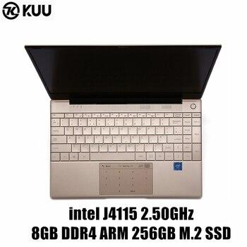 цена на KUU Italian keyboard For Intel J4115 14.1-inch IPS Screen All Metal Shell Office Notebook 8GB RAM 512GB SSD with type C laptop