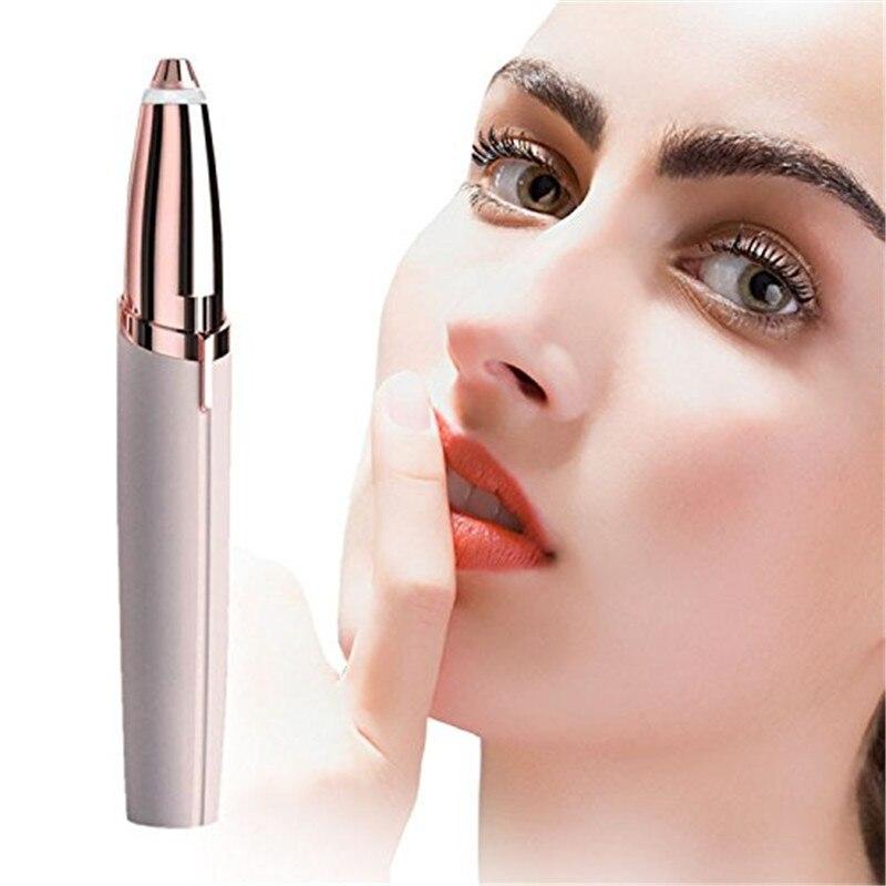 Electric Facial Hair Remover Razor Depilator Defeatherer Bikini Face Neck Hair Removal Tool Trimmer Brows Eyeflash Razor Blade