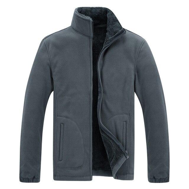 Men's Winter Demi-season Jacket Soft  Fleece Warm 2020 Autumn Windproof Thick Thermal Men Windbreaker Black Coats Bomber Male 3