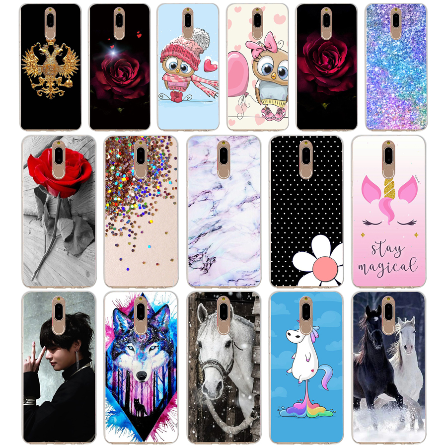 B Case Cover For Huawei Nova 2i Soft Silicone TPU Cool Patterned Painting For Huawei Nova2i Phone Cases