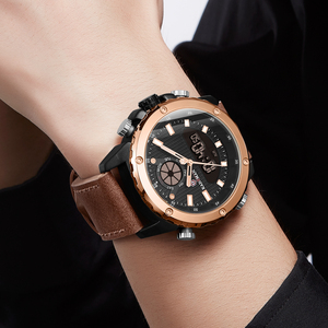 Image 5 - KADEMAN New Watch Men Fashion Sport Quartz Men Watch Top Luxury Brand Date Alarm Leather Strap Waterproof 3ATM Relogio Masculino