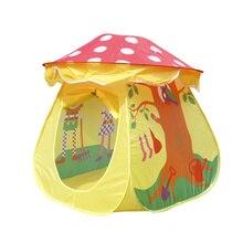 Portable Tent Children Boys Girls Mushroom House Tent