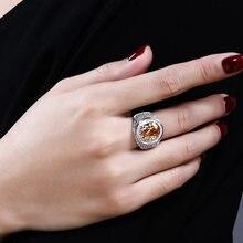 Новое овальное кольцо с большими кристаллами anillo фианитами