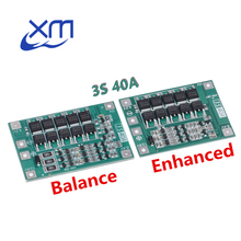 10 pces 3 s 40a li ion bateria de lítio carregador placa de proteção pcb bms para 40a corrente broca do motor 11.1 v 12.6 v módulo de célula lipo