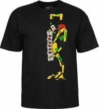 Powell – t-shirt noir Peralta Ray, cartes de Tarot, pour Skateboard, M 2Xl