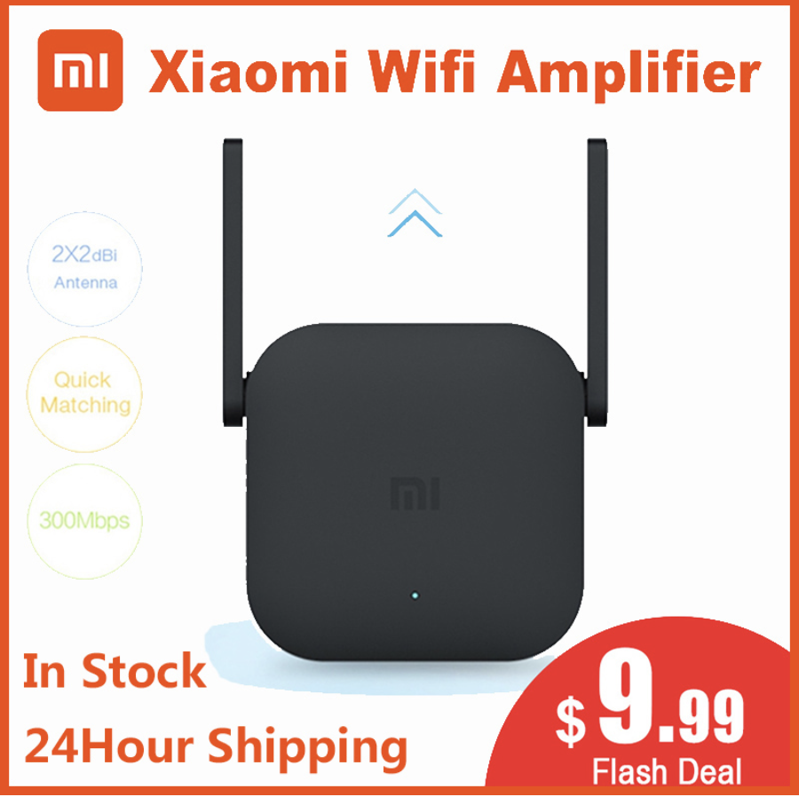 Original Xiaomi Wifi Amplifier Pro Router 300M 2.4G Network Expander Repeater Roteador 2 Power Antenna for Mi Router Home Office image