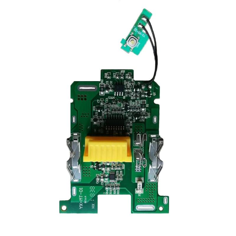 Li-ion Battery BMS PCB Charging Protection Board For Makita 18V Power Tool BL1815 BL1830 BL1860 LXT400 Bl1850 Battery Status LED