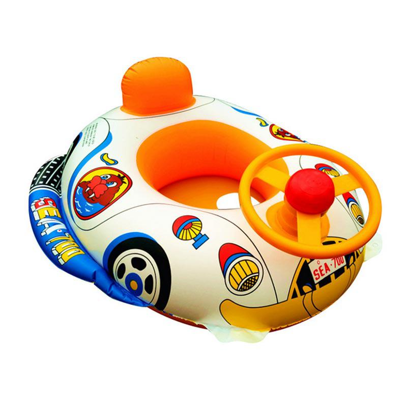 Inflatable Car Baby Music Swimming Pool Floaties Boat Toddler Beach Bath Kids Toys Summer Shower Games Water Toys For Children