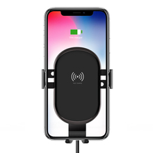 518NS Intelligent Vehicle Bracket Car Mount 10W Fast Wireless Charger Sensor Air Outlet Phone Holder