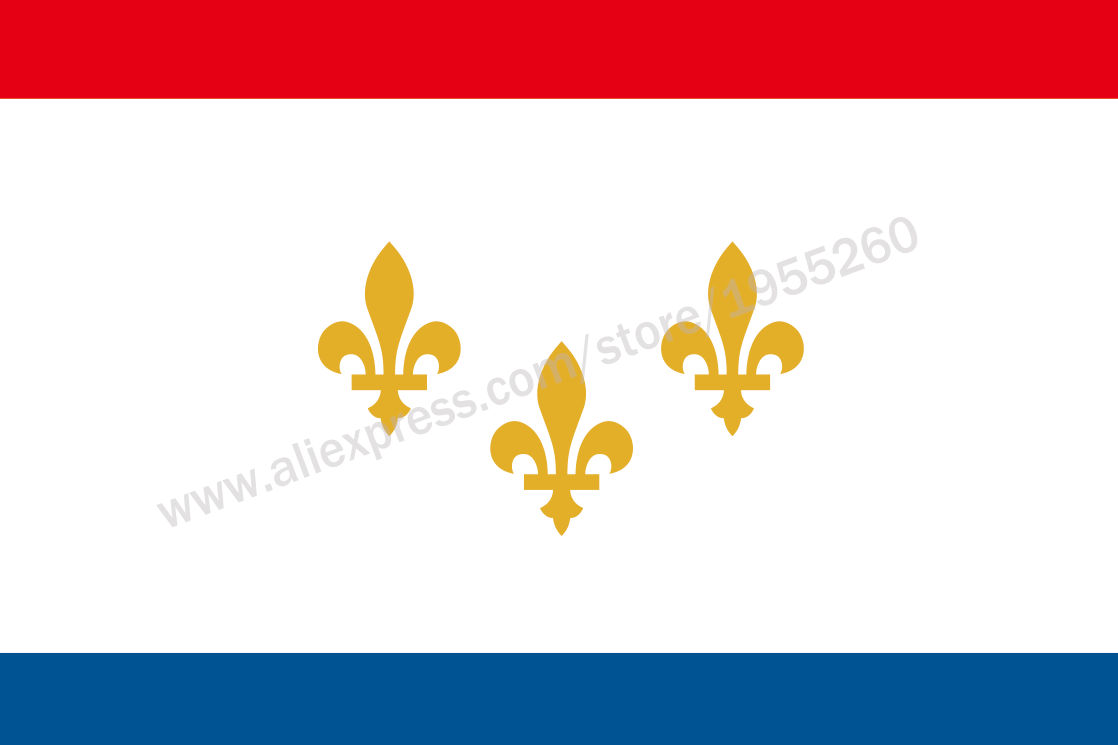 Louisiana New Orleans Flag 3 x 5 FT 90 x 150 cm USA States City Flags Banners America image