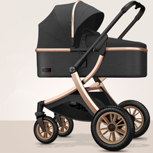 High Landscape Baby Stroller 3 in 1 Baby Wheelchair Portable Adjustable Pink Stroller Travel Pram Pushchair with Many Free Gifts