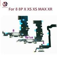 5 stücke Lade Port Für iphone X XR XS MAX XSM USB Ladegerät Port Dock Stecker Connector Flex Teil Für iphone 5 6 6s 7 8 plus 5C 5S