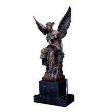 цена Bronze fine art western sculptures for decoration  myth statue WINGED FEMALE WARRIOR lost wax casting онлайн в 2017 году