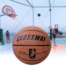 1 Set Crossway Basketball Non-Slip Anti-Leakage Microfiber Beginners Basketball Athletic Equipments