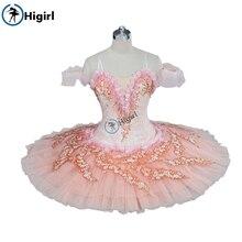 Free shipping Pink Fiary Women Pancake Sleeping Beauty Adult Classical Professional Ballet Tutu Costume BT9121